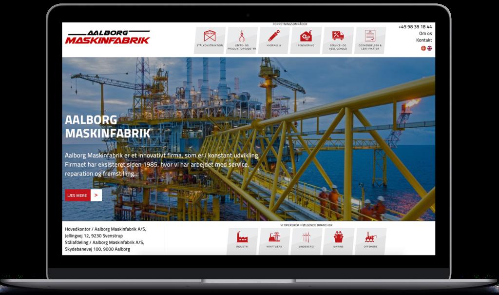 Aalborg maskinfabrik webdesign