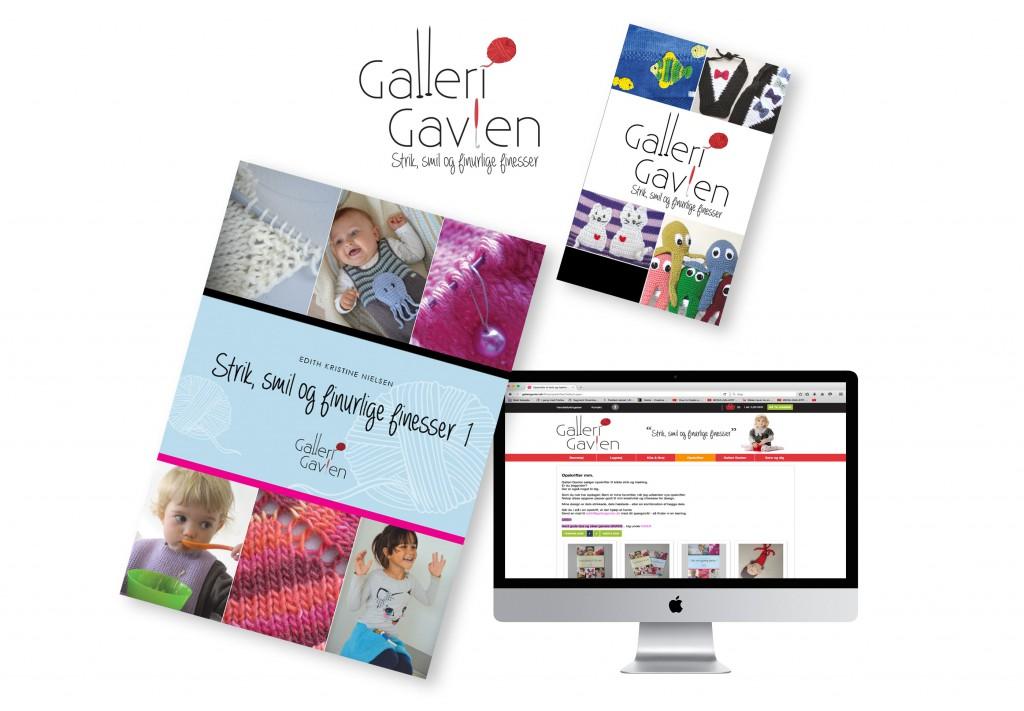 Galleri Gavlen hjemmeside og brochure