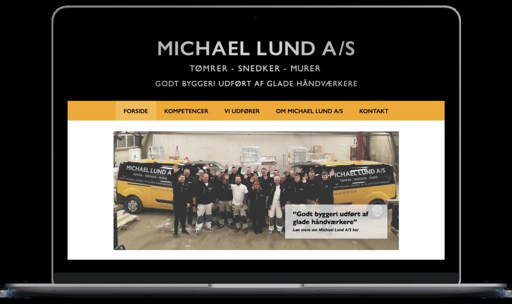 Michael lund hjemmeside webdesign