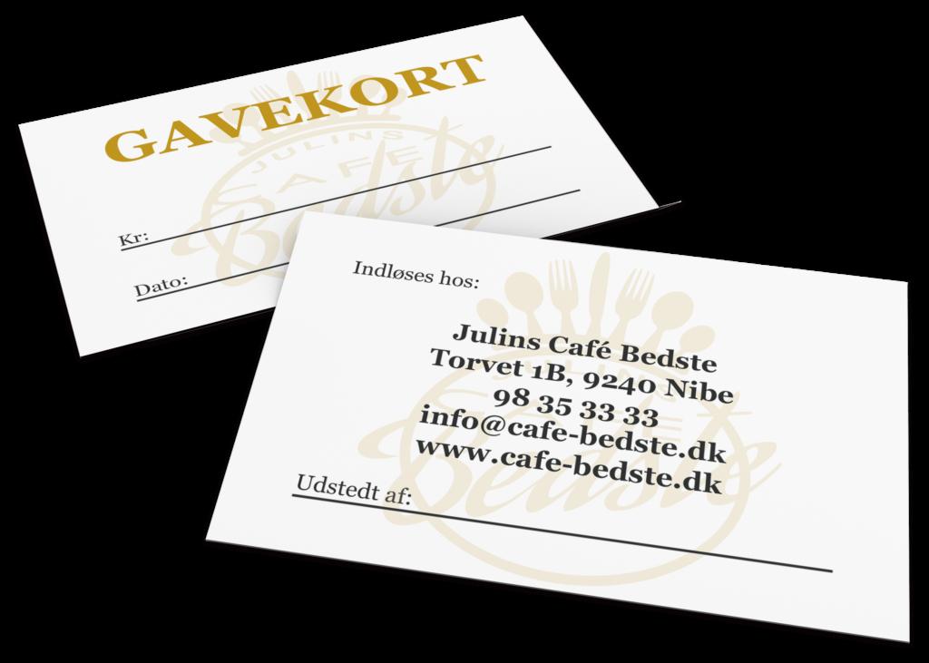 Julins café bedste gavekort